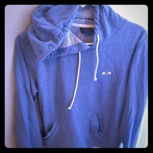 Oakley Small Blue Hoodie Sweatshirt Coat